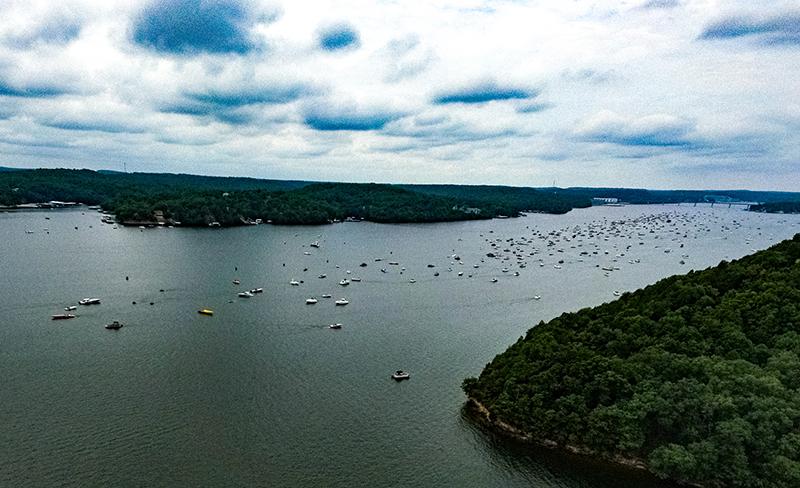 drone view of 2020 lake shootout
