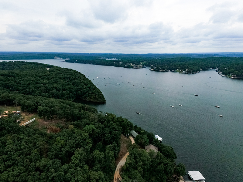 overhead view lake of the ozarks shootout